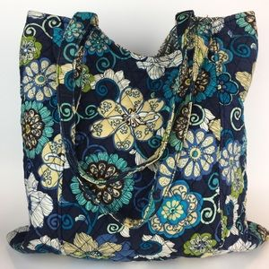 Vera Bradley Paisley Blue Shoulder Tote Bag